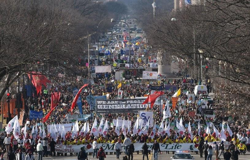 Marsz przeciwników aborcji w Waszyngtonie /AFP