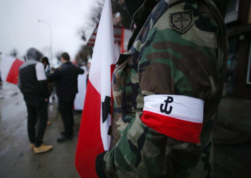 Marsz Żołnierzy Wyklętych w Hajnówce w 2017 r. /Piotr Mecik /East News
