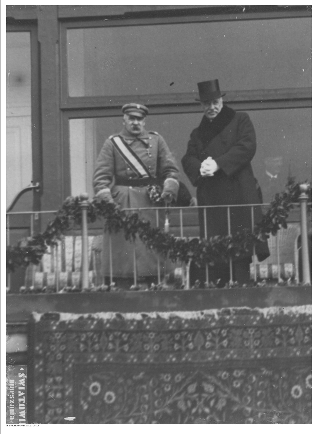 Marszałek Józef Piłsudski i prezydent Ignacy Mościcki /NAC Online /