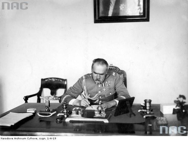 Marszałek Józef Piłsudski /Z archiwum Narodowego Archiwum Cyfrowego
