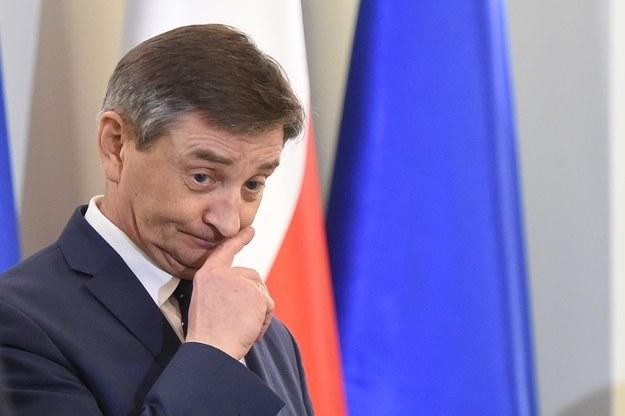 Marszałek Marek Kuchciński: Wszystko w trosce o żołądki posłów /Rafał Oleksiewicz /Reporter