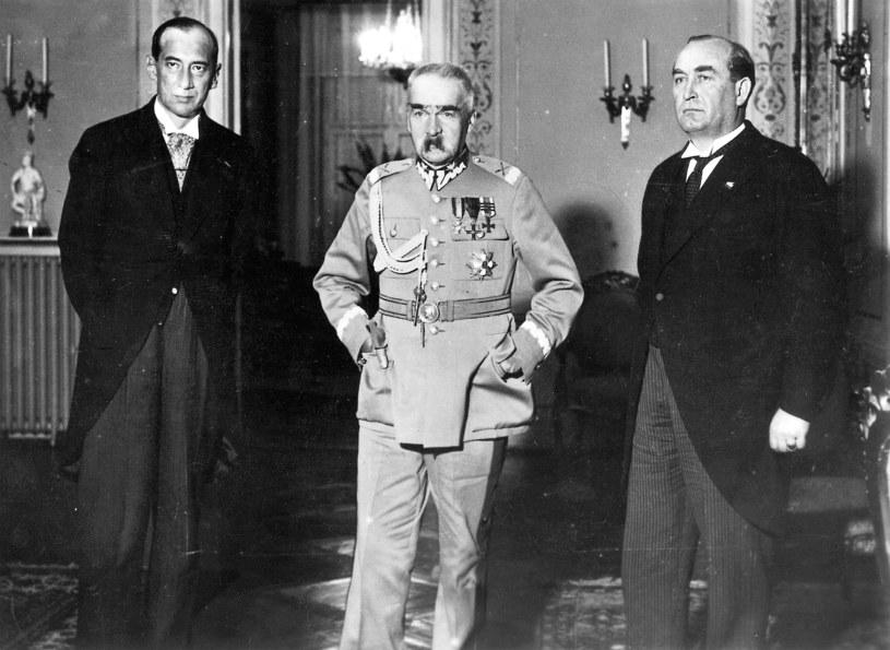 Marszałek Piłsudski i minister spraw zagranicznych Józef Beck /Sueddeutsche Zeitung Photo     /Agencja FORUM