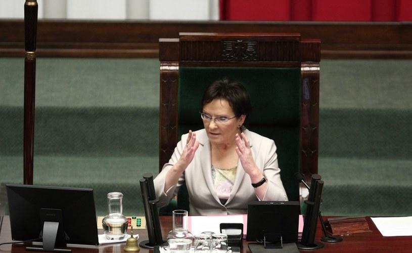 Marszałek Sejmu Ewa Kopacz. /Stanisław Kowalczuk /East News