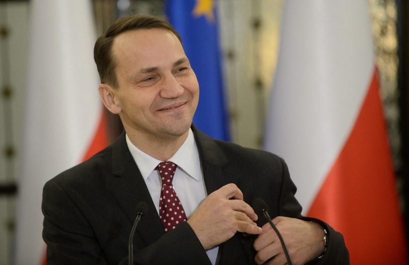Marszałek Sejmu Radosław Sikorski podczas konferencji prasowej przed posiedzeniem Sejmu /Bartłomiej Zborowski /PAP