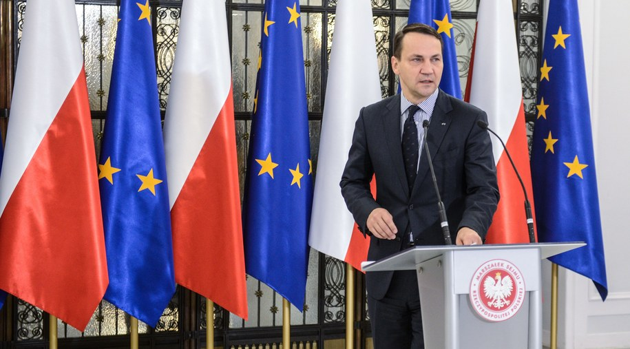 Marszałek Sejmu Radosław Sikorski /Jakub Kamiński   /PAP