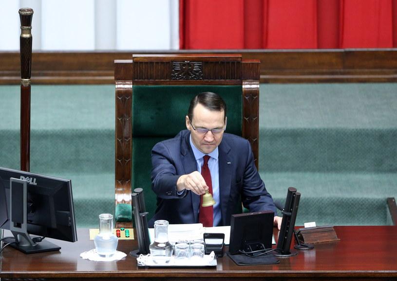 Marszałek Sejmu Radosław Sikorski /Leszek Szymański /PAP