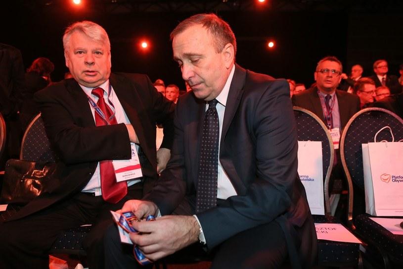 Marszałek Senatu Bogdan Borusewicz i szef sejmowej komisji spraw zagranicznych Grzegorz Schetyna /Tomasz Radzik /Agencja SE/East News