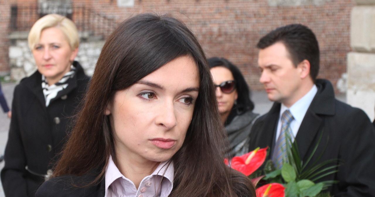 Marta Kaczyńska odwiedziła grób rodziców na Wawelu