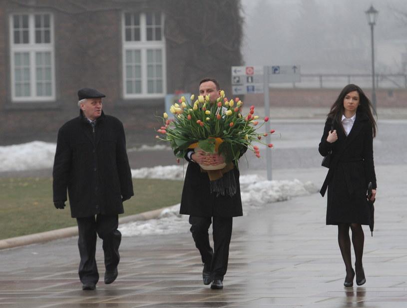 Marta Kaczyńska w towarzystwie posła Andrzeja Dudy i senatora Stanisława Koguta /Jacek Bednarczyk /PAP