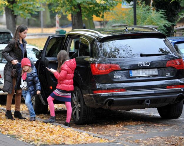 Marta Kaczyńska z córkami /Marcin Gadomski /East News