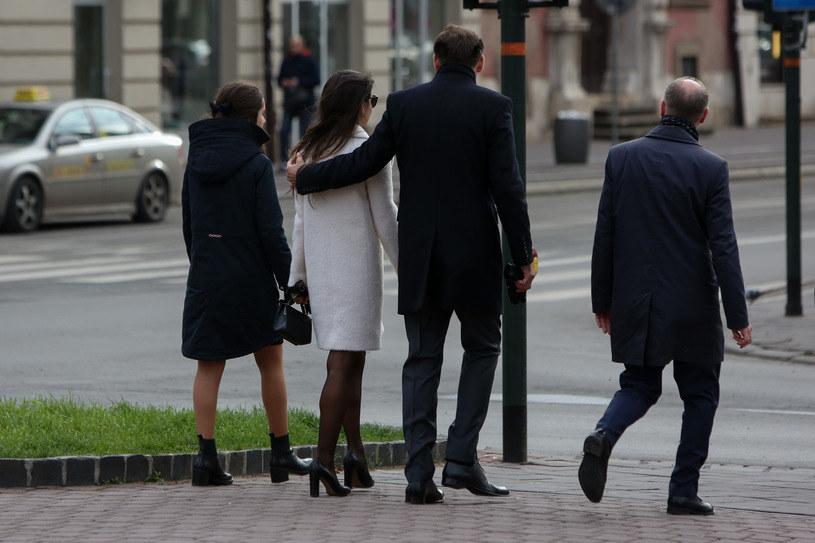 Marta Kaczyńska z Piotrem i córkami /Filip Radwański /Agencja FORUM