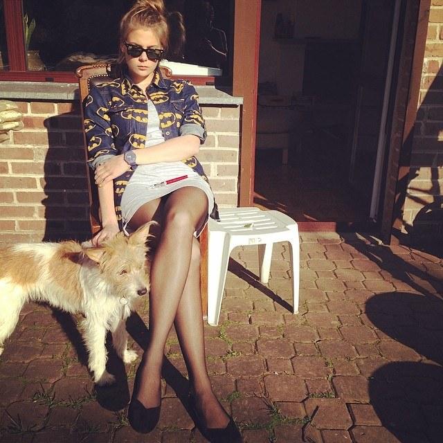 Marta Wierzbicka ze swoją suczką Cuki. /Instagram /internet