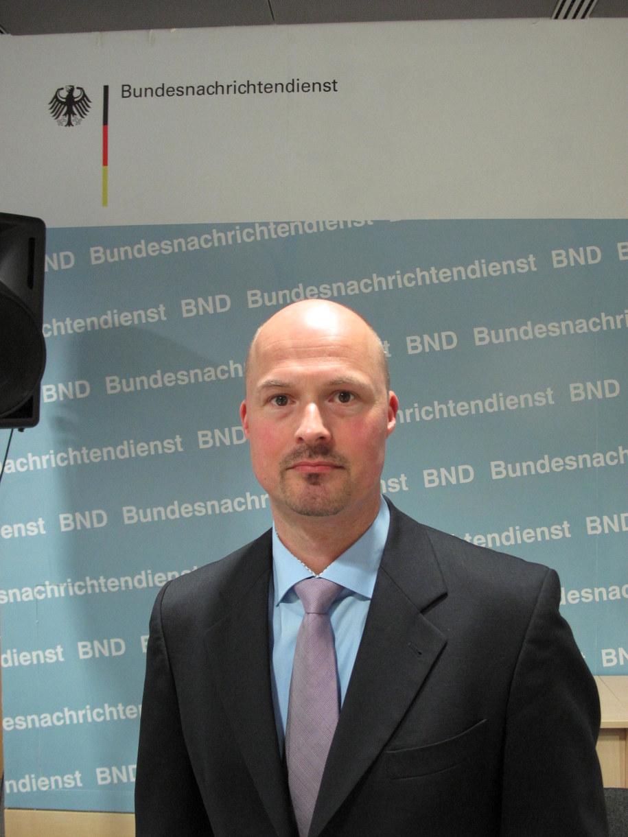 Martin Heinemann - rzecznik niemieckiej Federalnej Służby Wywiadowczej /Adam Górczewski /RMF FM