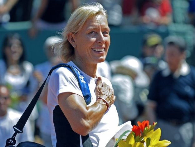 Martina Navratilova - była gwiazda tenisowych kortów /AFP