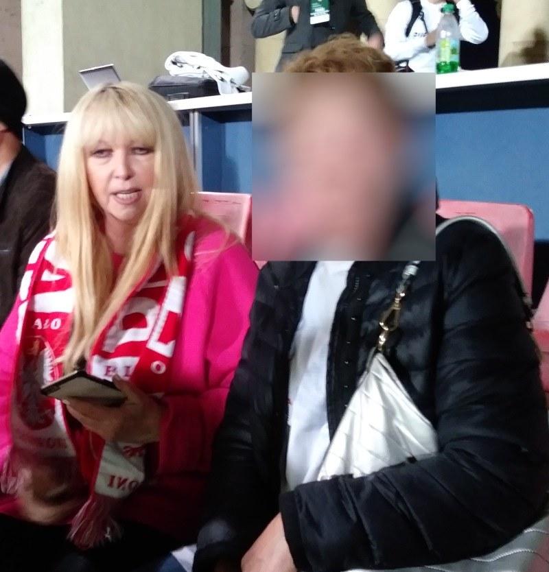 Maryla Rodowicz na trybunach stadionu w Erywaniu /INTERIA.PL