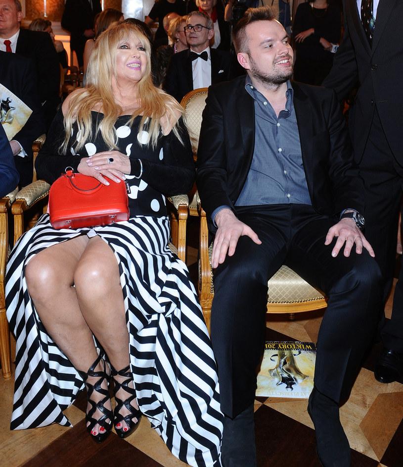 Maryla Rodowicz z synem Jędrzejem /Andras Szilagyi /MWMedia
