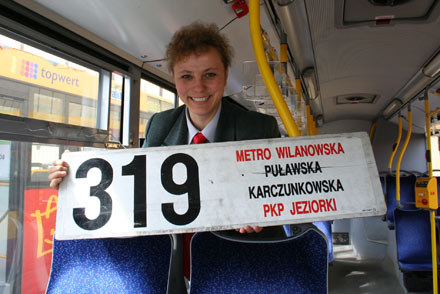 Marzena Biały realizuje się za kierownicą autobusu miejskiego. Fot. Katarzyna Dziewicka /