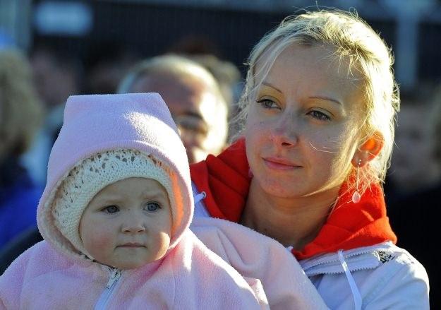 Marzena Tyszczak z córeczką Marią /AFP