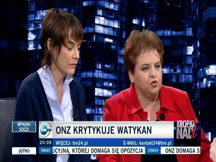 Marzena Wróbel i Kazimiera Szczuka /TVN24/x-news