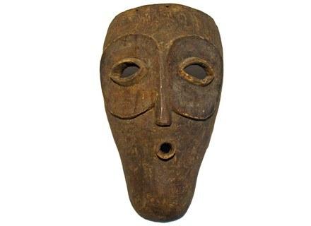 Maska twarzowa, typu elanda/emangungu, używana w ceremoniach inicjacyjnych. 36 cm; Dem. Rep. Konga /Sztuka.pl