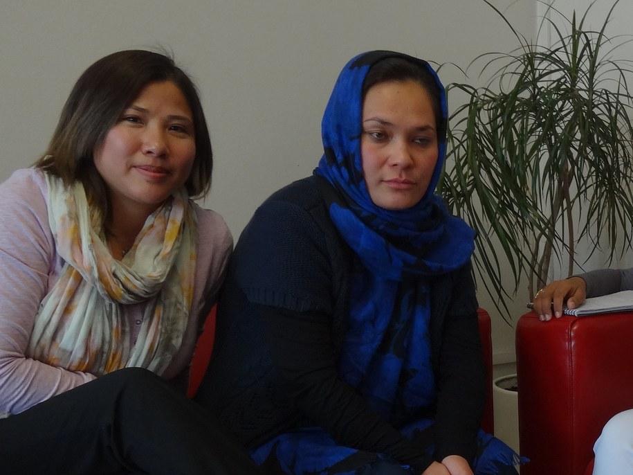 Masuma Ibrahimi, Shukria Azadmanesh /Grzegorz Jasiński /RMF FM