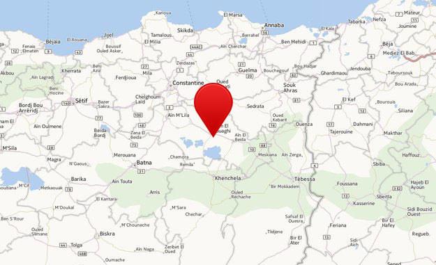Maszyna rozbiła się w górzystym rejonie w prowincji Umm al-Bawaki /Mapy.interia.pl /