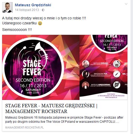 Mateusz Grędziński na Facebooku /