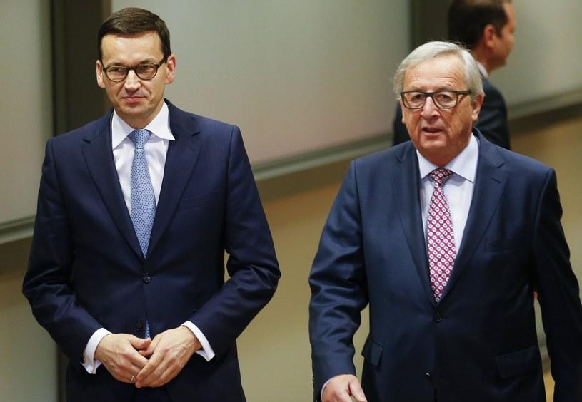 Mateusz Morawiecki i Jean-Claude Juncker /Ye Pingfan Xinhua / eyevine /East News
