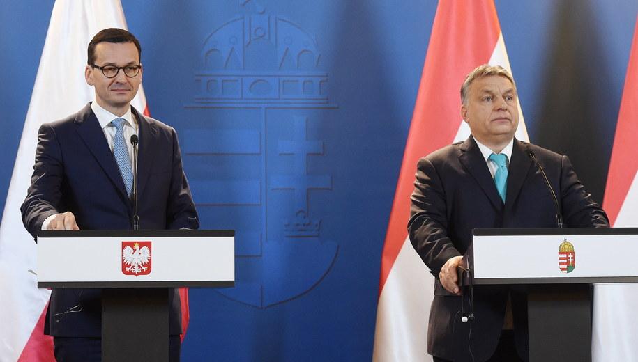 Mateusz Morawiecki i Viktor Orban /Radek Pietruszka /PAP