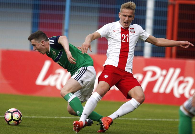 Mateusz Praszelik (P) i Robert Burns (L) z Irlandii Północnej /Andrzej Grygiel /PAP