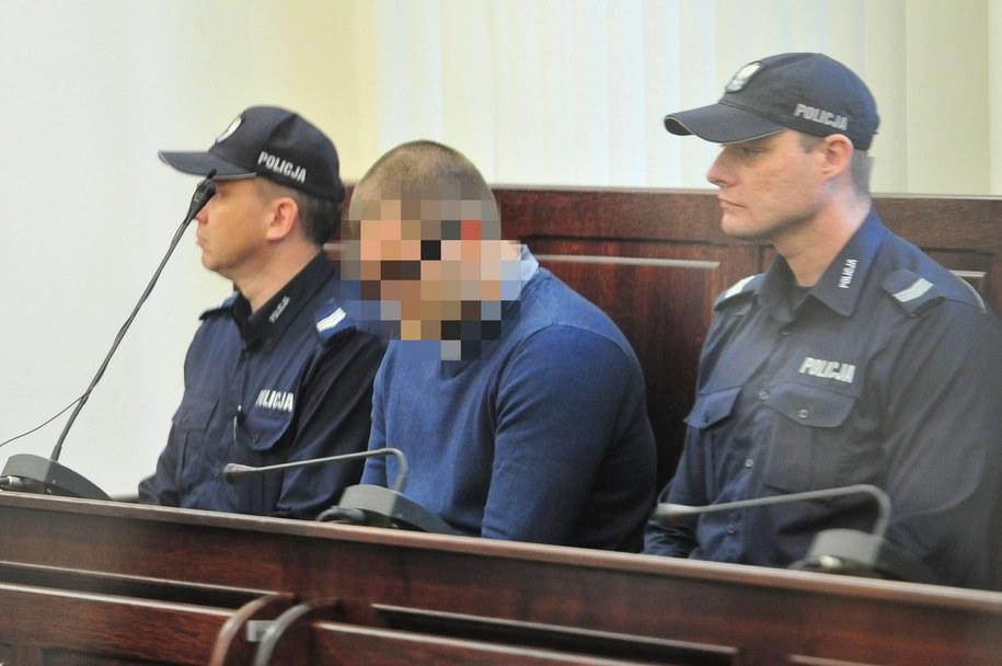 Mateusz S. podczas procesu / Marcin Bielecki    /PAP