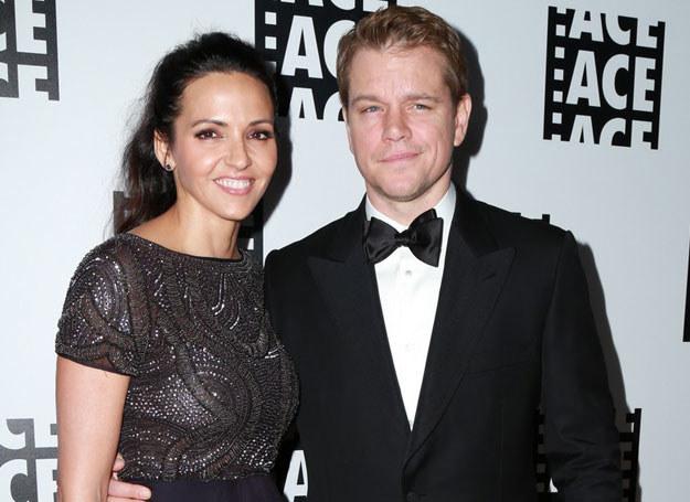 Matt Damon z żona /Parisa / Splash News/EAST NEWS /East News