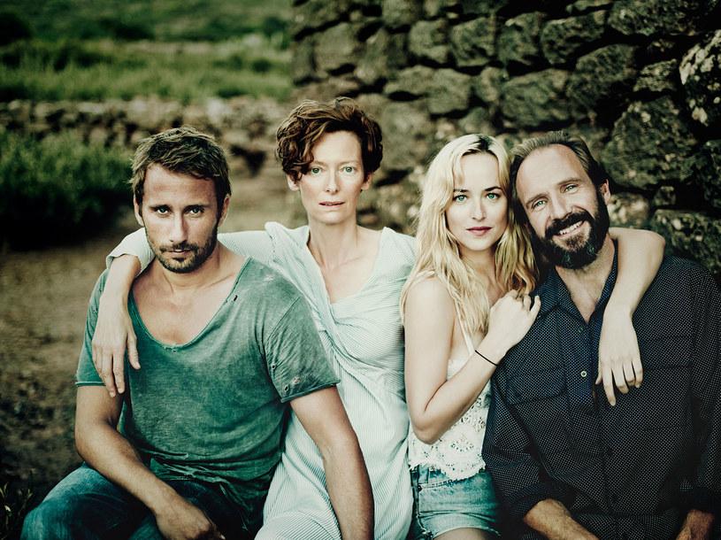 "Matthias Schoenaerts, Tilda Swinton, Dakota Johnson i Ralph Fiennes - gwiazdy filmu ""A Bigger Splash"" /materiały prasowe"