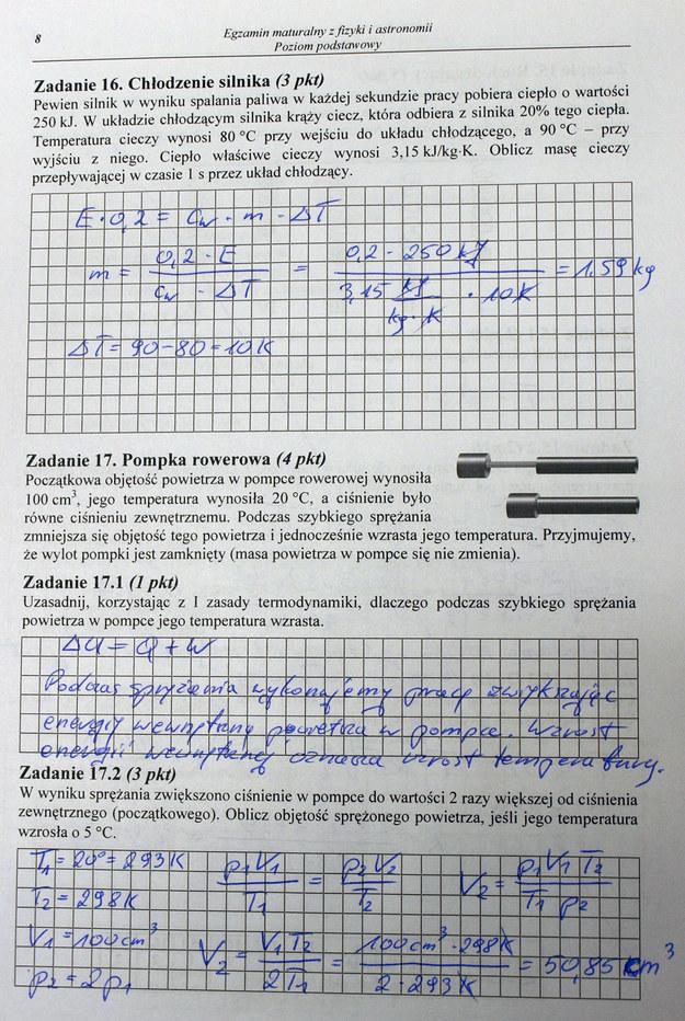 Matura 2014. Fizyka /INTERIA.PL