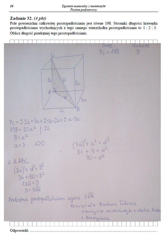 Matura 2014: Matematyka - arkusz i odpowiedzi /