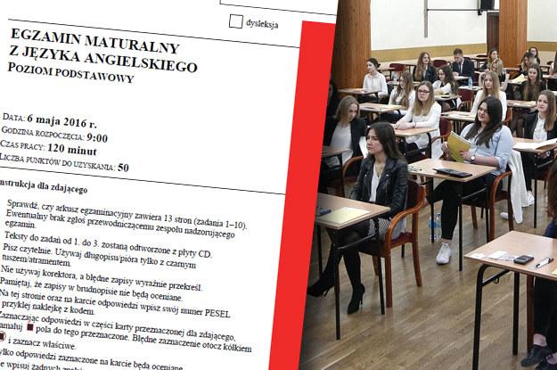 Matura 2016 - język angielski poziom podstawowy /INTERIA.PL
