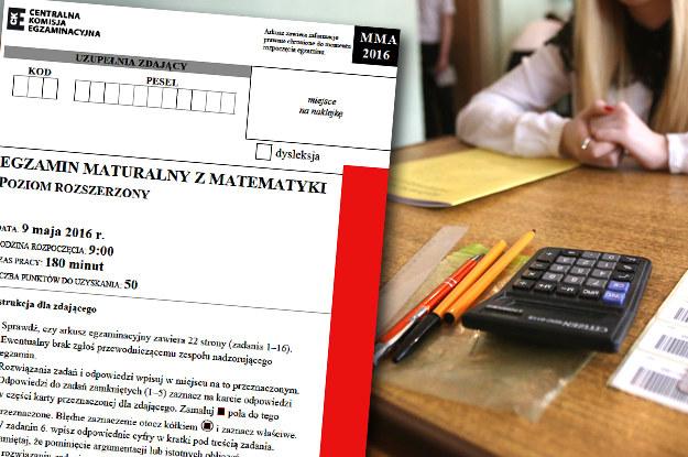 Matura 2016: Matematyka, poziom rozszerzony /East News
