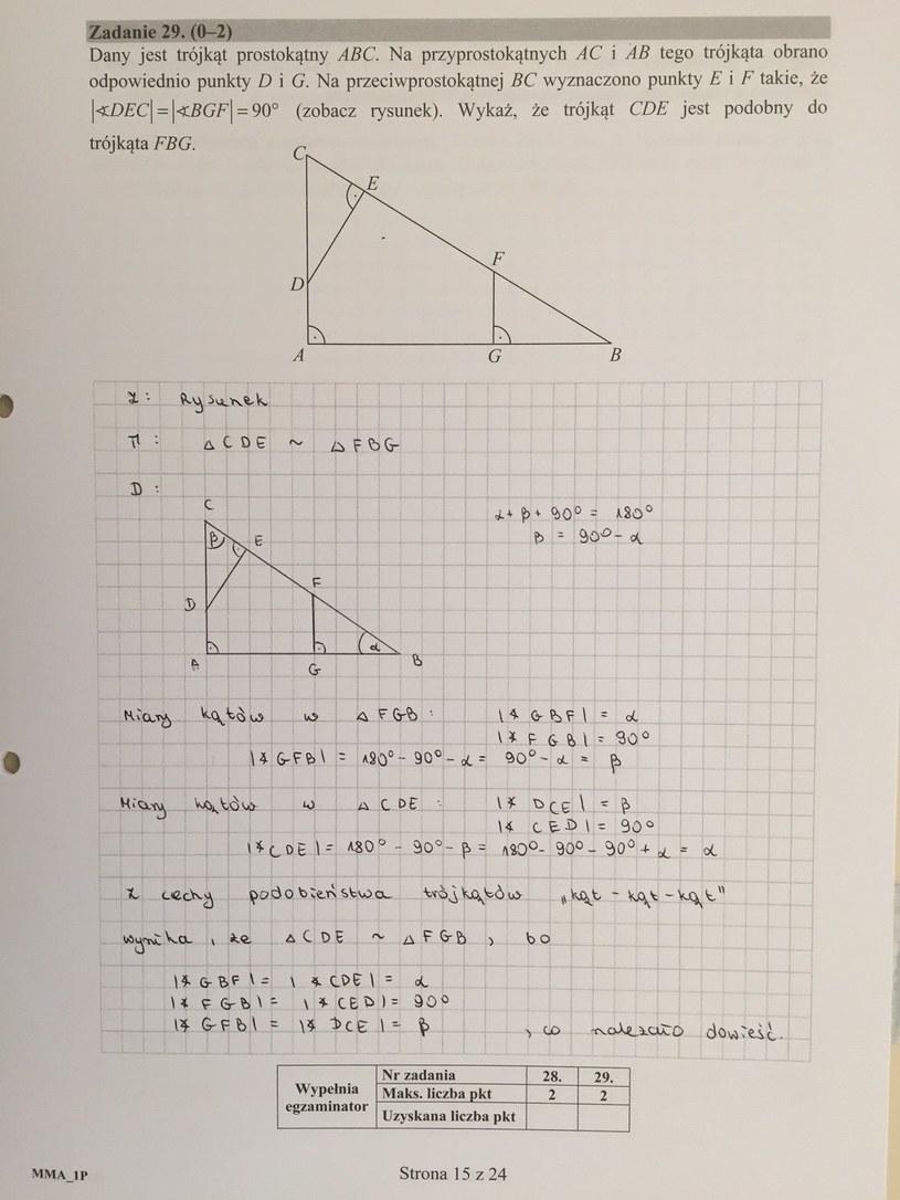 Matura 2016 - propozycja odpowiedzi z matematyki, poziom podstawowy /RMF FM