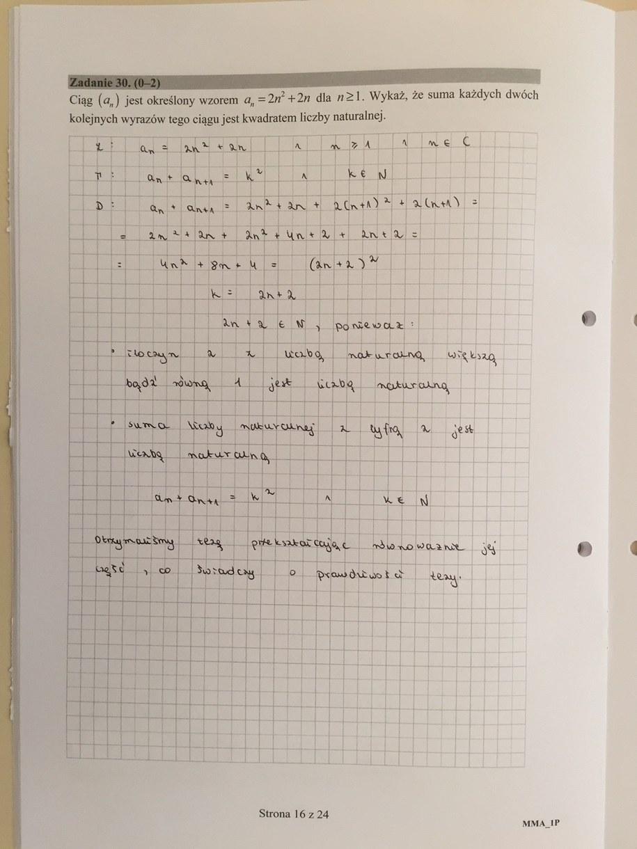 matura matematyka 2016 odpowiedzi pdf