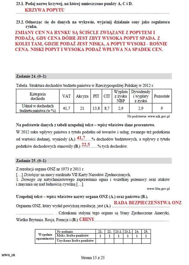 Matura 2016: WOS, poziom rozszerzony /INTERIA.PL
