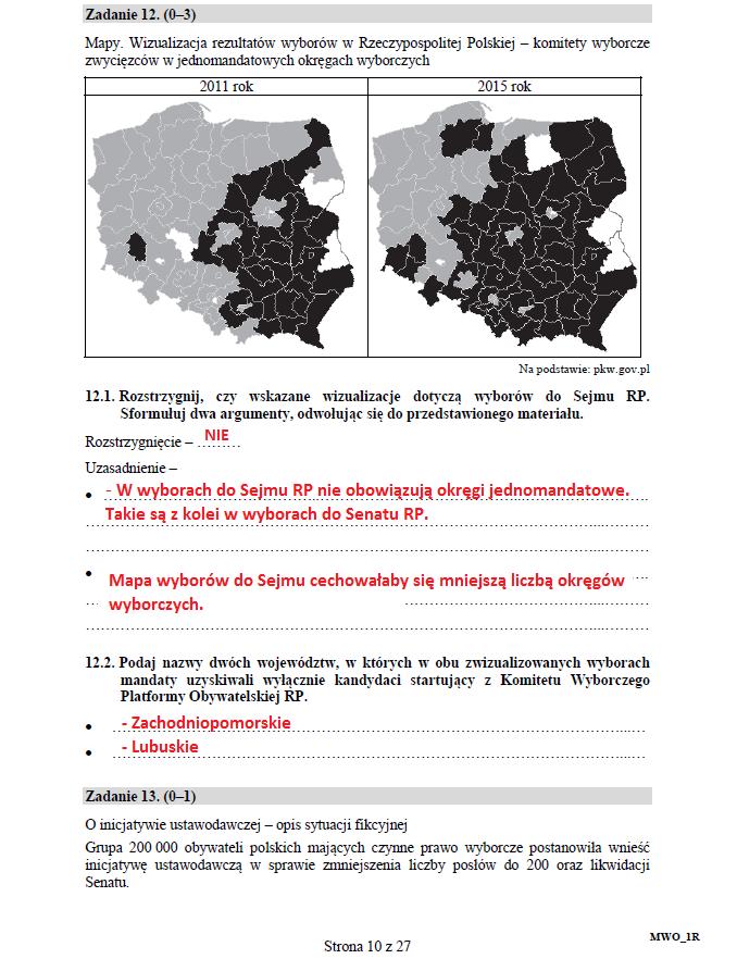 Matura 2017: Wiedza o społeczeństwie poziom rozszerzony /INTERIA.PL