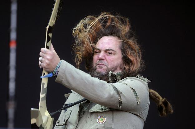 Max Cavalera (Soulfly) podczas festiwalu w Jarocinie /AKPA