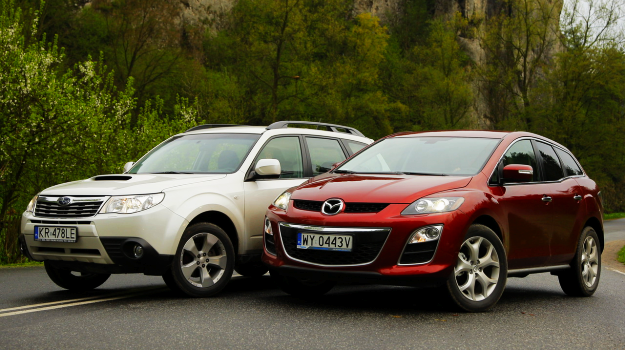 Mazda CX-7 i Subaru Forester /Motor