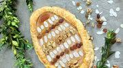 Mazurek bajaderkowy z migdałami