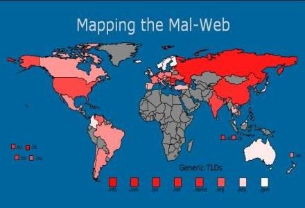 McAfee SiteAdvisor - czym bardziej czerwony rejon, tym gorzej. /materiały prasowe