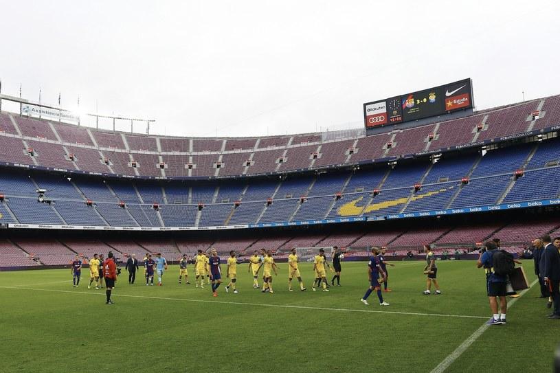 Mecz Barcelony z Las Palmas odbył się przy pustych trybunach /PAP/EPA