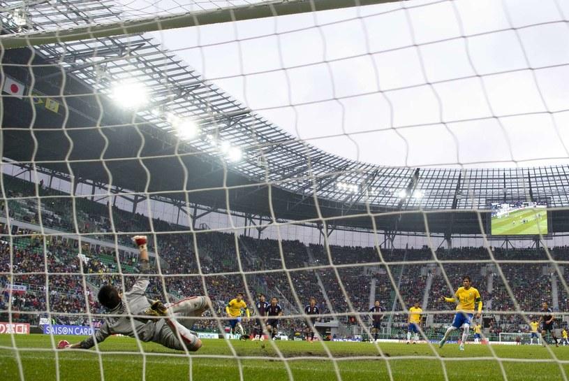 Mecz Brazylia - Japonia kosztował wrocławian 800 tys. zł /AFP