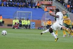 Mecz Ghana-Australia - remis i czerwona kartka dla Kewella