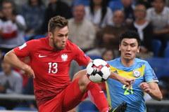Mecz Kazachstan - Polska w obiektywie