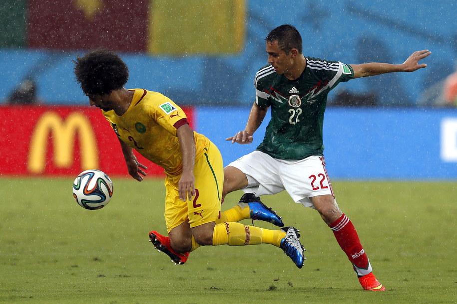 Mecz Meksyk - Kamerun zakonczył się wynikiem 1:0 /JULIO MUNOZ  /PAP/EPA